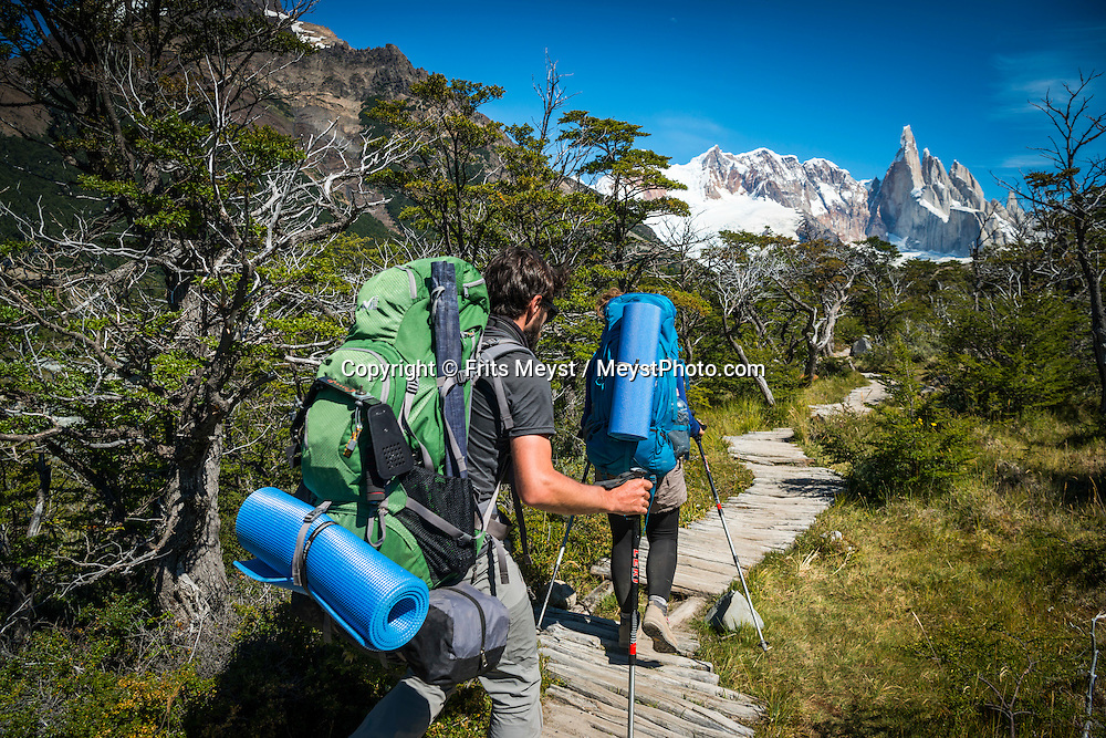 El Chalten, Los Glaciares National Park, Patagonia, Argentina, February 2016. A spectacular hike up to Cerro Torre. El Chalten is a good trekking base for Los Glaciares NP. A 4x4 camper is one of the best vehicles to explore the wild interior of Southern Patagonia. Photo by Frits Meyst / MeystPhoto.com