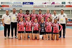 20180110 NED: CEV CUP Sliedrecht Sport - Beziers Angels VB: Sliedrecht<br />Team Beziers Angels VB <br />&copy;2018-FotoHoogendoorn.nl / Pim Waslander