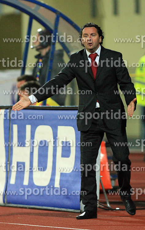 Coach of Celje Slavisa Stojanovic at 30th Round of Slovenian First League football match between NK Domzale and NK MIK CM Celje in Sports park Domzale, on April 25, 2009, in Domzale, Slovenia. Celje won 3:0. (Photo by Vid Ponikvar / Sportida)