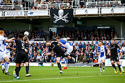 Tom Lockyer of Bristol Rovers is challenged by John Mousinho of Oxford United - Rogan/JMP - 14/10/2017 - FOOTBALL - Memorial Stadium - Bristol, England - Bristol Rovers v Oxford United - EFL Sky Bet League One.