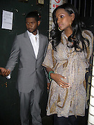 **EXCLUSIVE**.Usher with pregnant wife Tameka Foster.The Dream Concert to raise funds for the Washington, DC, Martin Luther King, Jr National Memorial. -Backstage-.Organized by Quincy Jones, Tommy Hilfiger and Russell Simmons.Radio City Music Hall.New York City, NY, USA .Tuesday, September 18, 2007.Photo By Selma Fonseca/ Celebrityvibe.com.To license this image call (212) 410 5354 or;.Email: celebrityvibe@gmail.com; .