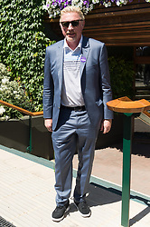 © Licensed to London News Pictures. 02/07/2018. London, UK. Boris Becker arrives to attend Wimbledon Tennis Championships 2018, Day 1. Photo credit: Ray Tang/LNP
