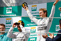 ROSBERG Nico (Ger) Mercedes Gp Mgp W05 ambiance portrait podium ambiance   during the 2014 Formula One World Championship, Brazil Grand Prix from November 6th to 9th 2014 in Sao Paulo, Brazil. Photo Frederic Le Floch / DPPI.