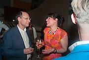 DARIEN LEADER; JESSICA VOORSANGER, Tate Summer party. Tate Britian, Millbank. London. 28 May 2012