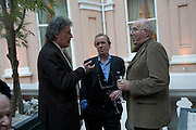 SIR TOM STOPPARD, MARTIN AMIS AND CLIVE JAMES, Launch of the new magazine 'Standpoint'. Wallace Collection. Manchester Sq. London. 28 May 2008.  *** Local Caption *** -DO NOT ARCHIVE-© Copyright Photograph by Dafydd Jones. 248 Clapham Rd. London SW9 0PZ. Tel 0207 820 0771. www.dafjones.com.