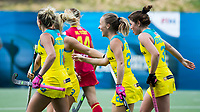 BRUSSEL - Emily Smith (Aus.) scored 4-1    during AUSTRALIA v SPAIN , Fintro Hockey World League Semi-Final (women) . COPYRIGHT KOEN SUYK