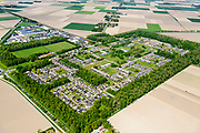 Nederland, Flevoland, Nagele, 07-05-2018; Dorp Nagele in de Noordoostpolder, bijna geheel ontworpen door moderne architecten van de architecten van De Acht en Opbouw. <br />