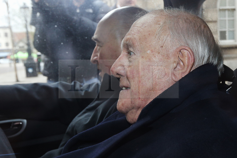 © Licensed to London News Pictures . 01/03/2013 . Preston , UK . STUART HALL leaves Preston Crown Court today (1st March 2013) . The broadcaster is accused of rape and sexual assault . Photo credit : Joel Goodman/LNP