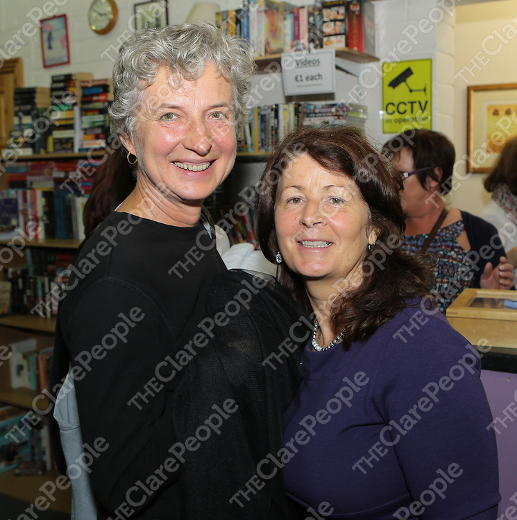 12/9/2013   Pictured at the opening of the Clare Haven Charity Shop in the Gort road Industrial Park were Wieslawa O'Brien and Muiread Mannion,fundraising coordinator Clare Haven.<br /> Picture Liam Burke/Press 22