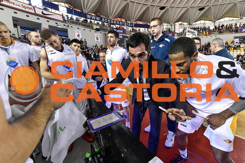 DESCRIZIONE : Campionato 2014/15 Virtus Acea Roma - Umana Reyer Venezia<br /> GIOCATORE : Federico Fuca<br /> CATEGORIA : Time Out Allenatore Coach<br /> SQUADRA : Virtus Acea Roma<br /> EVENTO : LegaBasket Serie A Beko 2014/2015<br /> GARA : Virtus Acea Roma - Umana Reyer Venezia<br /> DATA : 01/02/2015<br /> SPORT : Pallacanestro <br /> AUTORE : Agenzia Ciamillo-Castoria/GiulioCiamillo<br /> Predefinita :