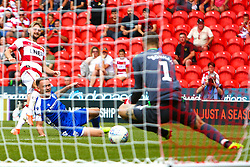 Alfie May of Doncaster Rovers shoots at goal - Mandatory by-line: Ryan Crockett/JMP - 03/08/2019 - FOOTBALL - The Keepmoat Stadium - Doncaster, England - Doncaster Rovers v Gillingham - Sky Bet League One