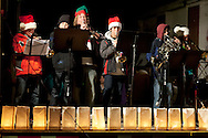 Pine Bush, New York - Crispell Middle School students play music on the main stage during the Community Country Christmas presented by the Pine Bush Chamber of Commerce on Dec. 1, 2012.