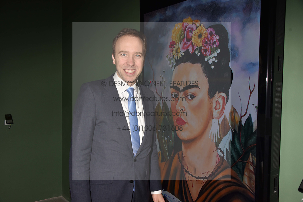 The Rt.Hon.Matthew Hancock MP at a preview of the 'From Selfie To Self-Expression' exhibition at The Saatchi Gallery, Duke Of York's HQ, King's Road, London, England. 30 March 2017.