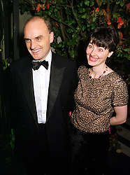 MR & MRS NICHOLAS COLERIDGE he is head of Conde Nast, at a dinner in London on 21st October 1999.MYA 89