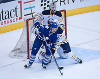 March 19, 2016:  Toronto Maple Leafs Right Wing Milan Michalek (18) [3665] i goalmouth first period of game between the Buffalo Sabres and the Toronto Maple Leafs at the Air Canada Centre in Toronto, ON, Canada. (Photo by Peter Llewellyn/ Icon Sportswire)
