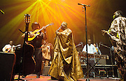 AfroCubism<br /> performing live at The Royal Albert Hall, London, Great Britain <br /> 27th June 2011<br /> <br /> Eliades Ochoa<br /> <br /> Kasse Mady Diabat&eacute; <br /> Bassekou Kouyate<br /> <br /> <br /> Photograph by Elliott Franks