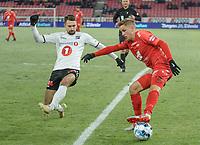 Fotball , 8. november 2019 , Eliteserien , Brann - Odd 1-0<br /> <br /> Thomas Grøgaard , Brann<br /> Elbasan Rashani , Odd