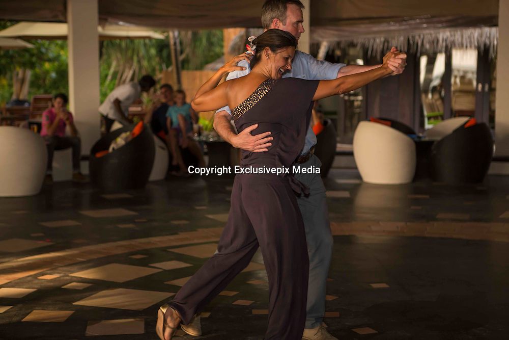 EXCLUSIVE<br />Lizzie Cundy and Bruno Tonioli pictured Judging during the dancing competition held at The Sun Siyam Iru Fushi Maldives<br />&copy;Exclusivepix Media
