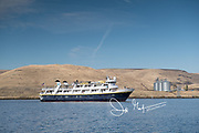 The National Geographic Sea Lion expedition ship explores the Snake River.