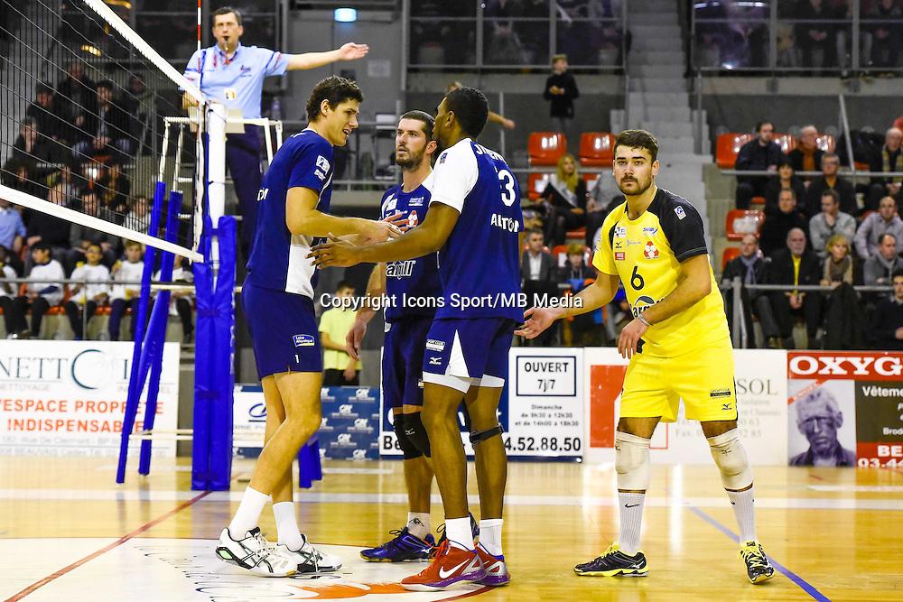 Jakub VESELY / Robin TOSATTO / Theo MORILLON  - 19.12.2014 - Beauvais / Saint Nazaire - 12e journee de Ligue A<br />Photo : Fred Porcu / Icon Sport