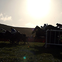 Action from the fourth race at the annual Bellhabour point to point on Sunday.<br /> Photograph by Yvonne Vaughan