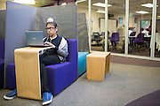 Seventh grader Harprince Pooni works on an assesment test in the Student Learning Lab at Rancho Middle School in Milpitas, California, on September 16, 2013. (Stan Olszewski/SOSKIphoto)