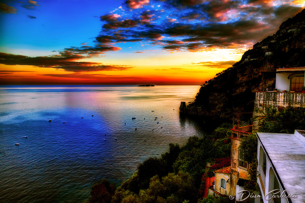 &ldquo;Glittering sunset from the deck of Hotel Montemare &ndash; Positano&rdquo;&hellip;<br />