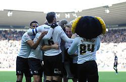 Derby County celebrate Nottingham Forest's Henri Lansbury's own goal - Photo mandatory by-line: Dougie Allward/JMP - Mobile: 07966 386802 - 17/01/2015 - SPORT - Football - Derby - iPro Stadium - Derby County v Nottingham Forest - Sky Bet Championship