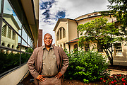 University of Pennsylvania professor Michael Hanchard stands alongside the Rotunda located on the University of Pennsylvania campus in Philadelphia, Pennsylvania on June 19, 2018.