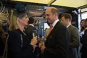 BARRY CHEVALLIER GUILD AND HIS WIFE, Sam Sangster, Carlo Carello and Christian Hamilton host a preview of Aspall's 1728 Fine Sparkling Cyder. Ladies Day, Epsom Downs.  A pop-up bar in No 1 car-park and lunch in a Box in the grandstand. . 3 June 2016