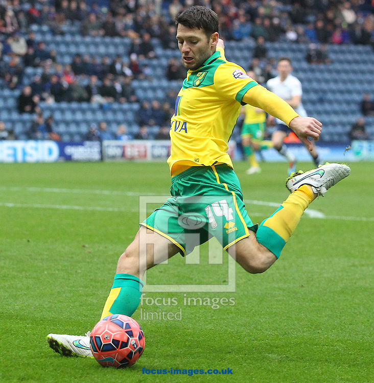 Wes Hoolahan of Norwich in action during the FA Cup match at Deepdale, Preston<br /> Picture by Paul Chesterton/Focus Images Ltd +44 7904 640267<br /> 03/01/2015