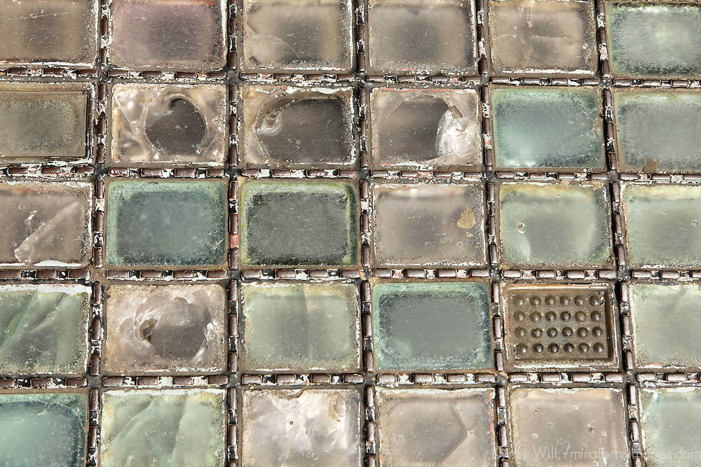 Europe, Ireland, Dublin. Glass bricks on city street of Dublin.