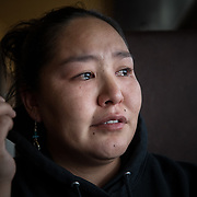 Meghann Piscoya, grew up in Shishmaref, Alaska, and starts to cry when she thinks about losing her home and her loved ones buried in the town. Shishmaref is threatened by climate change and and the community has voted to relocate to another part of Alaska.
