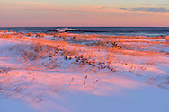 Beach Covered With Snow, Winter Westhampton Beach, NY
