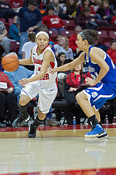 03 January 2014:  Chloe Nelson heads inward during an NCAA women's basketball game between the Drake Bulldogs and the Illinois Sate Redbirds at Redbird Arena in Normal IL