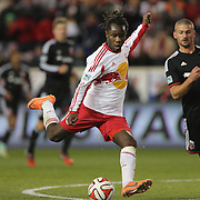 Pegguy Luyindula, New York Red Bulls, scores his sides second goal during the New York Red Bulls V DC United, MLS Cup Playoffs, Eastern Conference Semifinals first leg at Red Bull Arena, Harrison, New Jersey. USA. 2nd November 2014. Photo Tim Clayton