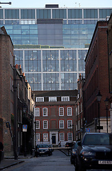 UK ENGLAND LONDON 20APR15 - New Spitalfields Market building overshadows old Victorian buildings in east London.<br /> <br /> <br /> <br /> jre/Photo by Jiri Rezac<br /> <br /> <br /> <br /> © Jiri Rezac 2015