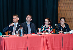 Pictured: A panel including MSP's Jackie Baillie, Kate Forbes and Murdo Fraser responded to the report.<br /> <br /> A report on the Scottish economy by independent think tank Reform Scotland was launched in Edinburgh.<br /> <br /> &copy; Dave Johnston / EEm