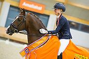 Kirsten Brouwer - Eye Catcher<br /> KNHS Indoorkampioenschappen 2016<br /> © DigiShots