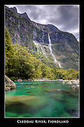 12x18-inch poster print of the Cleddau River in Fiordland, New Zealand