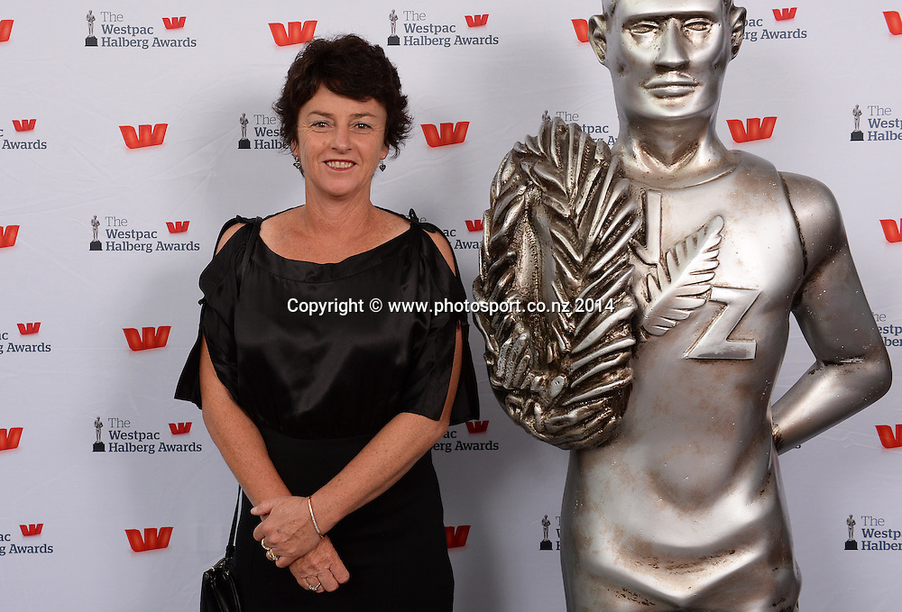 Dame Susan Devoy poses for a picture on the red carpet at the 51st Westpac Halberg Awards. Halberg Disability Sport Foundation. Vector Arena, Auckland, New Zealand. Thursday 13 February 2014. Photo: Andrew Cornaga / www.photosport.co.nz