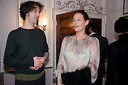 CHARLES SEBLINE; SARAH MURRAY; , Hamlton-Paris host a trunk show for Autumn/Wnter 2010. The Connaught. Carlos Place. Mayfair. London W1. 23 March 2010.