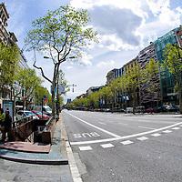 Calle Paseo de Gracia en Barcelona, España. Paseo de Gracia street in Barcelona, Spain.
