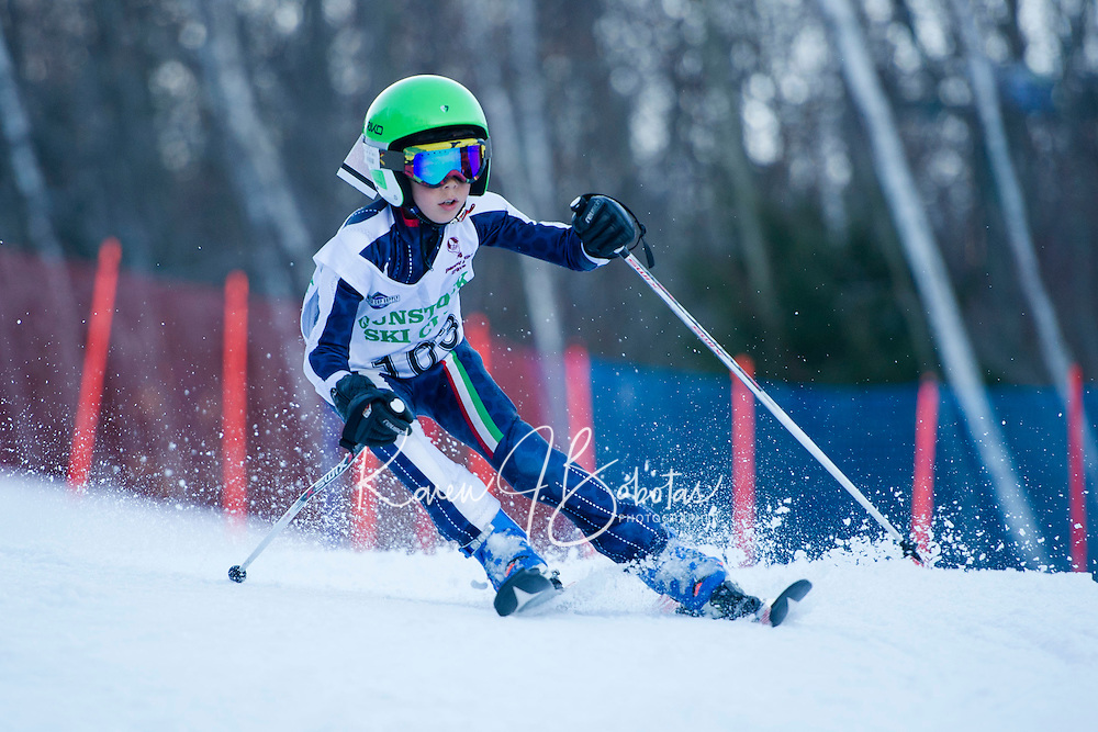 Tony Buttinger memorial slalom U10's with Gunstock Ski Club. <br /> ©2017 Karen Bobotas Photographer