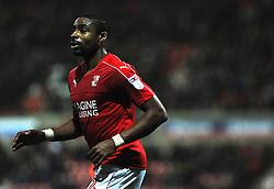 Jonathan Obika of Swindon Town - Mandatory by-line: Nizaam Jones/JMP - 07/01/2017 - FOOTBALL - County Ground - Swindon, England - Swindon Town v Shrewsbury Town - Sky Bet League One
