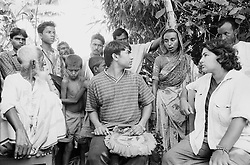 BANGLADESH NETRAKONA GURGAPUR 18OCT00 - Lisa (R), Mr MD Adbul Jabber (C) and a group of villagers listen to Fildiz Kathoon (2R) who explains how she lost her daughter. During the conversation it became clear that Lisa cannot be her daughter as neither their ages nor any physical marks that Mrs Kathoon remembered matched...jre/Photo by Jiri Rezac..© Jiri Rezac 2000..Tel/Fax: +44 (0) 20 8968 9635.Mobile: +44 (0) 7801 337 683..Email: jiri@jirirezac.com.Web: www.jirirezac.com..All pictures © Jiri Rezac 2000. All rights reserved.