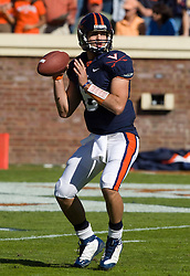 Virginia quarterback Marc Verica (6) in action against Miami.  The Virginia Cavaliers faced the Miami Hurricanes in a NCAA football game at Scott Stadium on the Grounds of the University of Virginia in Charlottesville, VA on November 1, 2008.  Miami defeated Virginia 24-17 in overtime.