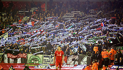 LIVERPOOL, ENGLAND - Thursday, November 26, 2015: FC Girondins de Bordeaux supporters during the UEFA Europa League Group Stage Group B match against Liverpool at Anfield. (Pic by David Rawcliffe/Propaganda)