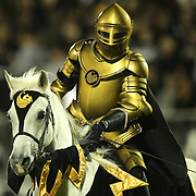 The UCF mascot and his horse Pegasus are seen during an NCAA football game between the South Florida Bulls and the 17th ranked University of Central Florida Knights at Bright House Networks Stadium on Friday, November 29, 2013 in Orlando, Florida. (AP Photo/Alex Menendez)