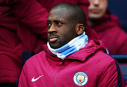 Yaya Toure of Manchester City starts on the bench - Mandatory by-line: Matt McNulty/JMP - 23/12/2017 - FOOTBALL - Etihad Stadium - Manchester, England - Manchester City v Bournemouth - Premier League